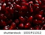 pomegranate seeds background | Shutterstock . vector #1031911312
