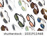 set of sunglasses isolated on... | Shutterstock . vector #1031911468