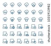 set of computer icons. vector...   Shutterstock .eps vector #1031913982