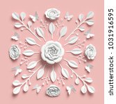 3d rendering  floral...