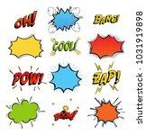 onomatopoeia comics sounds in...   Shutterstock .eps vector #1031919898