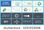 production charts slide...   Shutterstock .eps vector #1031923048
