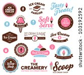 set of vintage and modern ice... | Shutterstock . vector #103192592