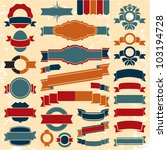 retro ribbons banners and... | Shutterstock .eps vector #103194728