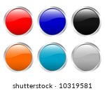 glossy web buttons  clipping... | Shutterstock . vector #10319581