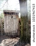 a picture of an outhouse in the ... | Shutterstock . vector #1031967415