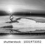 golf equipment   golf bag ... | Shutterstock . vector #1031973352