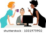 annoyed businessman trying to... | Shutterstock .eps vector #1031975902