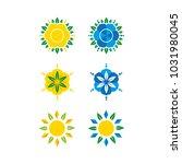 a set of mandala icons   Shutterstock .eps vector #1031980045