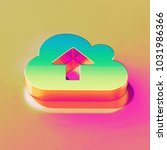 icon of yellow green cloud... | Shutterstock . vector #1031986366