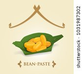 thai dessert   bean paste  med... | Shutterstock .eps vector #1031987302