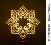 golden background of round... | Shutterstock .eps vector #1031990002