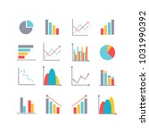 infographics elements in modern ... | Shutterstock .eps vector #1031990392