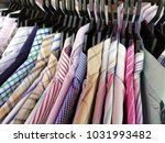 used clothing at second hand... | Shutterstock . vector #1031993482
