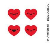 cute heart emoticons   Shutterstock .eps vector #1032008602