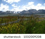 country side of ushuaia  land... | Shutterstock . vector #1032009208