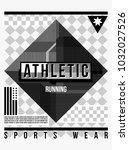 t shirt design sports wear... | Shutterstock .eps vector #1032027526