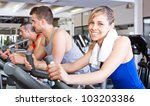 group of people training in a... | Shutterstock . vector #103203386