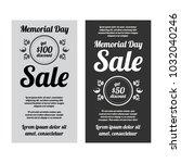 memorial day sale banners set | Shutterstock .eps vector #1032040246