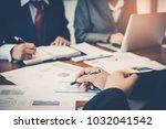 detailed consultation between... | Shutterstock . vector #1032041542