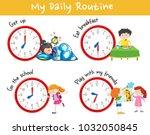 activity chart showing... | Shutterstock .eps vector #1032050845