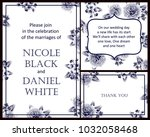 invitation with floral... | Shutterstock .eps vector #1032058468