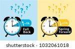 daylight saving time date... | Shutterstock .eps vector #1032061018
