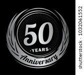 50 years anniversary.... | Shutterstock .eps vector #1032061552