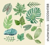 hand drawn illustrations... | Shutterstock .eps vector #1032064588