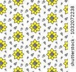 sunflowers seeds seamless...   Shutterstock .eps vector #1032072238