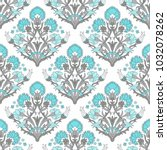 seamless damask colorful... | Shutterstock .eps vector #1032078262