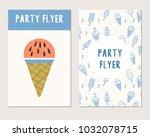 summer party flyer. vector... | Shutterstock .eps vector #1032078715