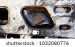 metal background of natural...   Shutterstock . vector #1032080776