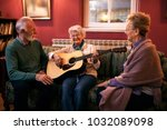 group of senior friends playing ... | Shutterstock . vector #1032089098