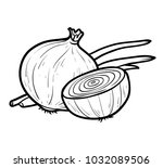 coloring book for children ... | Shutterstock .eps vector #1032089506