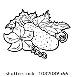coloring book for children ... | Shutterstock .eps vector #1032089566