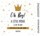 oh boy  a little prince text...   Shutterstock .eps vector #1032090562