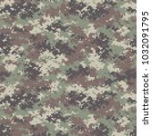 camouflage seamless pattern.... | Shutterstock .eps vector #1032091795