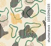 artistic wabi sabi seamless...   Shutterstock .eps vector #1032096235