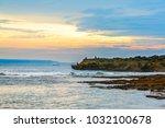 sunrise over indian ocean  nusa ...   Shutterstock . vector #1032100678