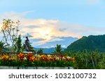 volcano agung  bali  candidasa  ...   Shutterstock . vector #1032100732