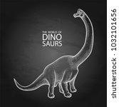 Graphic Brachiosaurus. Vector...