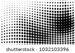 abstract monochrome halftone... | Shutterstock .eps vector #1032103396