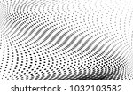 abstract monochrome halftone... | Shutterstock .eps vector #1032103582