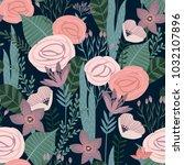 floral seamless pattern. vector ...   Shutterstock .eps vector #1032107896