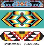 traditional native american...   Shutterstock .eps vector #103213052