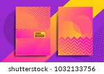 covers with geometric pattern ... | Shutterstock .eps vector #1032133756