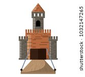 medieval castle design | Shutterstock .eps vector #1032147265