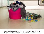 laundry and housework | Shutterstock . vector #1032150115