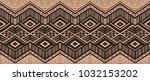 ikat geometric folklore... | Shutterstock .eps vector #1032153202